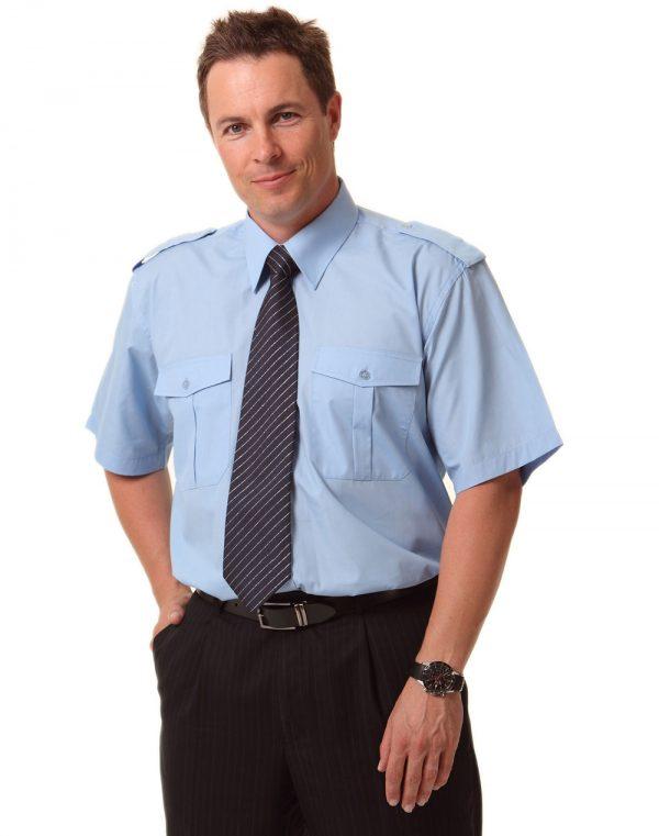 Man's Epaulette shirt ,short sleeve.
