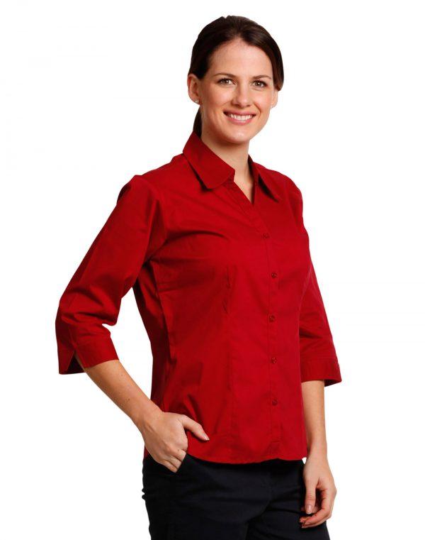 Ladies' 3/4 sleeve teflon shirt