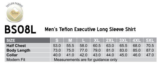 Mens L/S Teflon business shirt