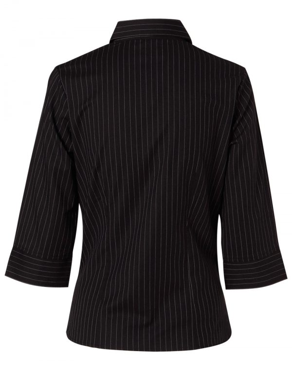 Ladies' 3/4 Sleeve Stretch Stripe Shirt