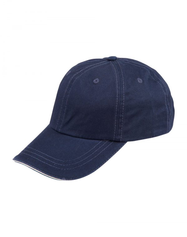 Washed polo cotton unstructured cap sandwich cap