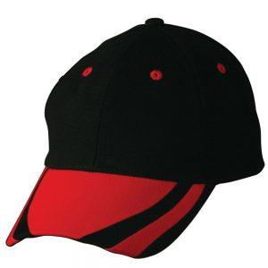 contrast peak structured cap.