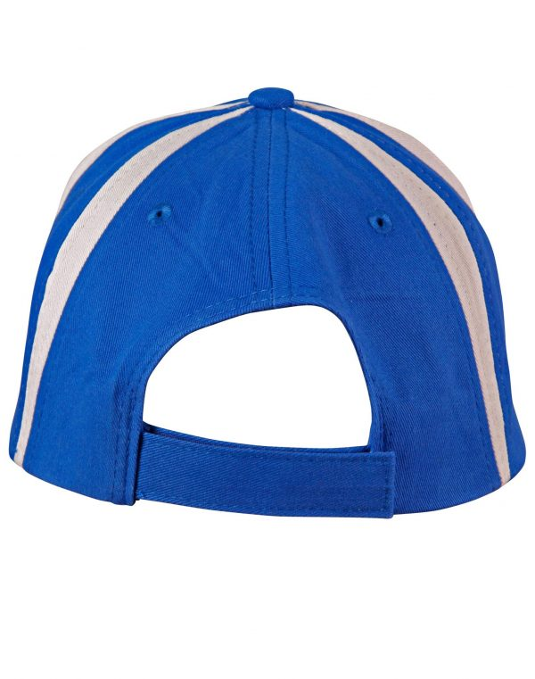 """Brushed cotton twill baseball cap  """"X"""" contrast"""