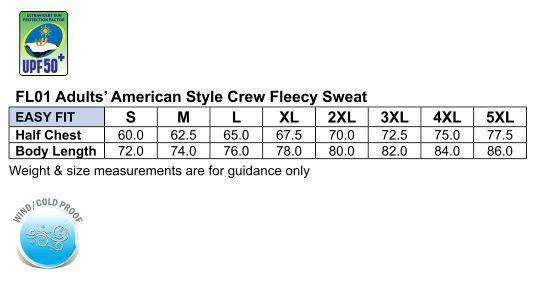 American style crewfleecy sweat