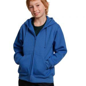 Kid's full-zip fleecy hoodie