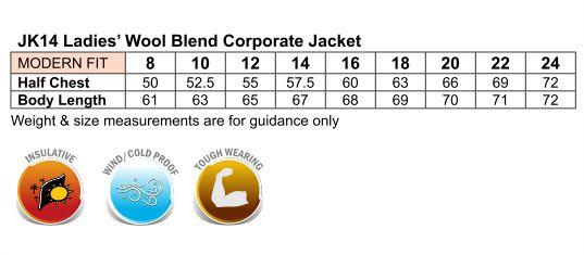 Ladies Wool Blend Corporate Jacket
