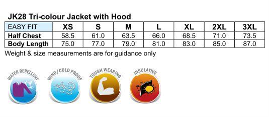 bathurst tri-color jacket with hood