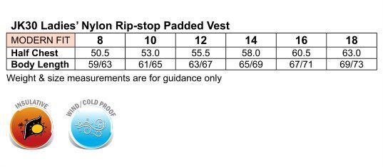 Ladies' Nylon Rip-stop Padded Vest
