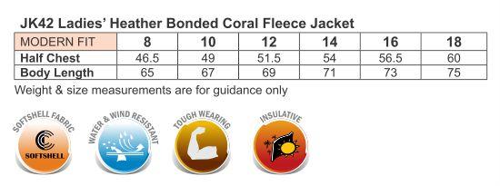 Ladies' Heather Bonded Fleece Jacket