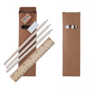 Script Stationery Set in Cardboard Box