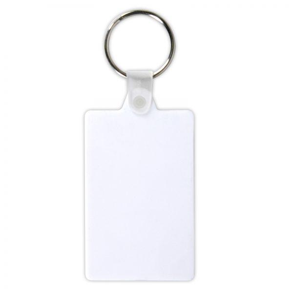 White Rectangular Soft PVC Keytag