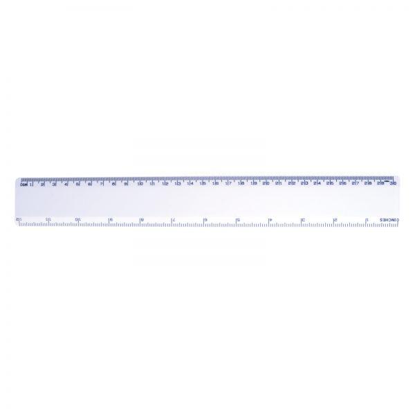White 30cm Premium Plastic Ruler