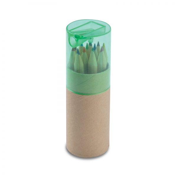 Coloured Pencils in Cardboard Tube