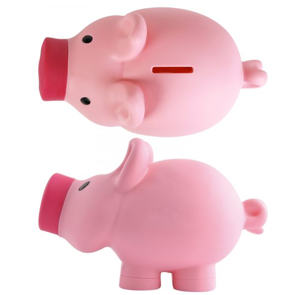 Priscilla Pig® (Pink) and Patrick Pig® (Blue) Coin Bank