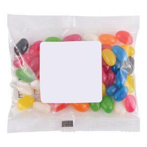 Assorted Colour Mini Jelly Beans in 50 Gram Cello Bag