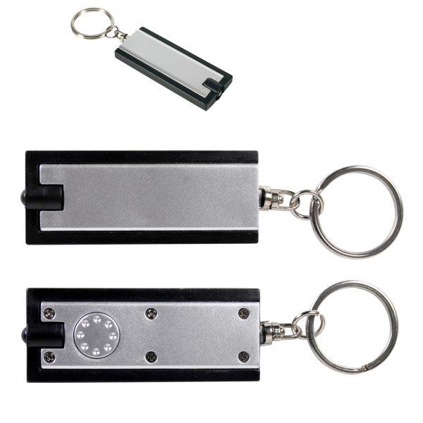 Rectangular Flashlight Keytag