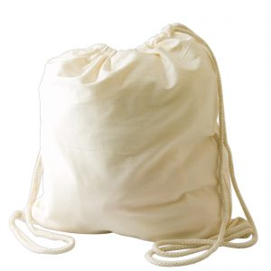 Calico Library Back Pack with Drawstrings - 200 GSM
