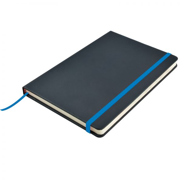 Venture A5  PU Notebook with Elastic Closure
