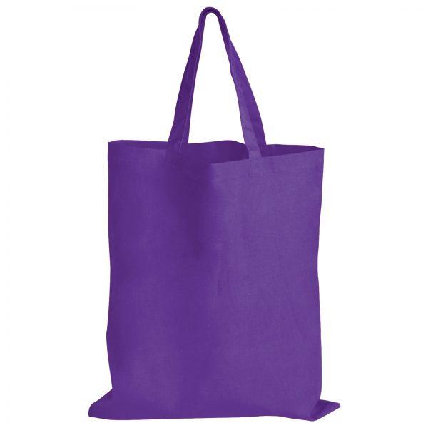 Coloured Cotton Double Short Handle Tote Bag - 140 GSM