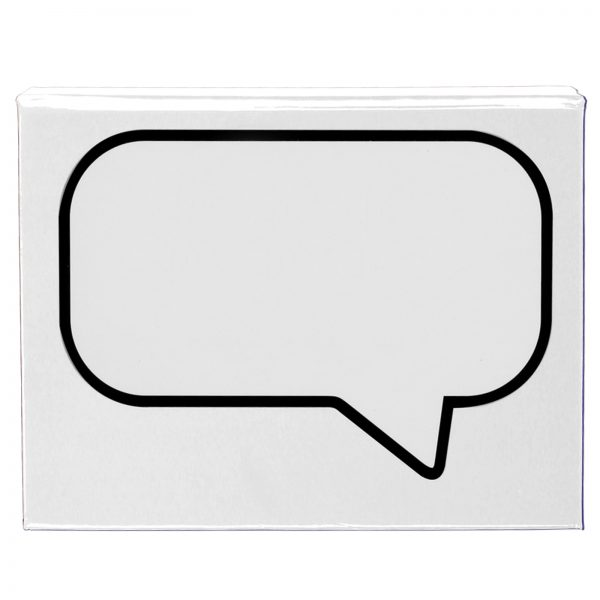 Speech Bubble Notepad with Flags