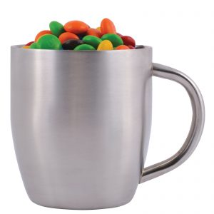 M&M's in Stainless Steel Double Wall Curved Mug