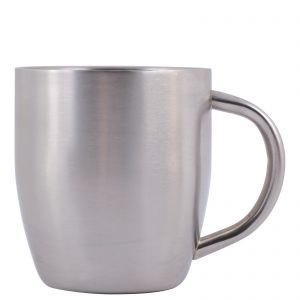 Stainless Steel Double Wall Curved Mug