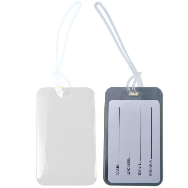 Shiny PVC Luggage Tag with Loop