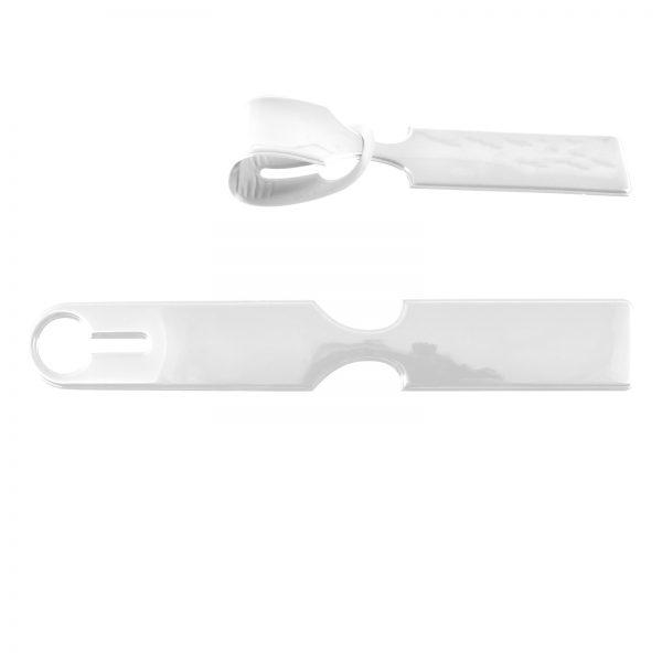 Shiny PVC Self Locking Luggage Tag