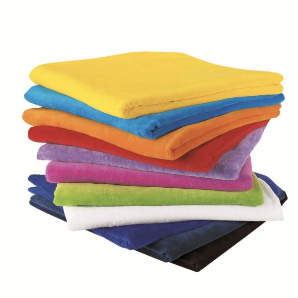 Terry Velour promotional towel- embroidered towel