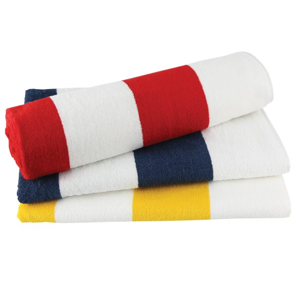 Striped towel - perfect with embroidery