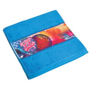 Sublimated Promotional towel with large sublimated print area