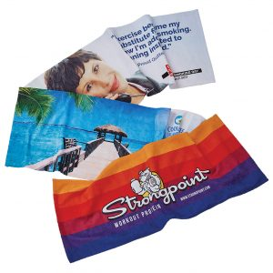 full colour promotional sublimated towels