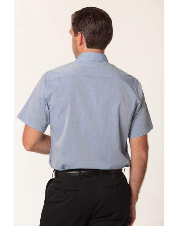 Men's Fine Chambray Short Sleeve Shirt