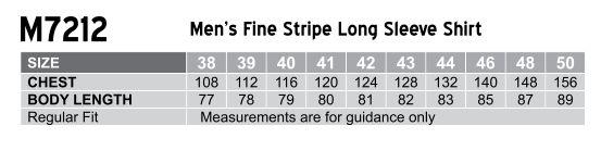 Men's Fine Stripe Long Sleeve Shirt
