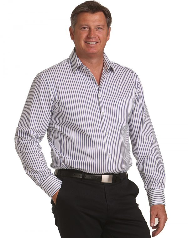 Men's Sateen Stripe L/S Shirt