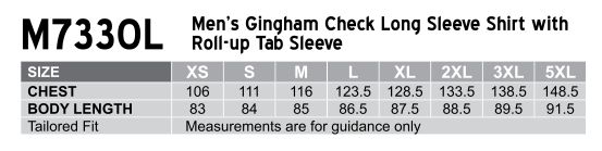 Men's Gingham Check Roll-up L/S Shirt