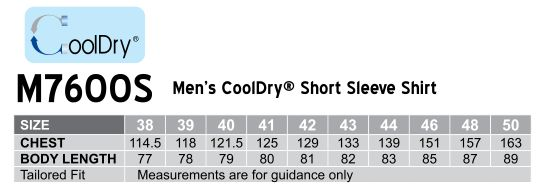 Men's Cooldry Short Sleeve Shirt