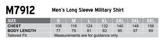 Men's Long Sleeve Military Shirt