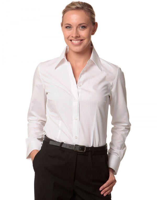 Women's Cotton/Poly Stretch L/S Shirt
