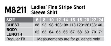 Women's Fine Stripe S/S Shirt