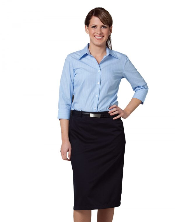 Women's Pin Stripe 3/4 Sleeve Shirt