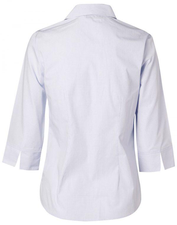 Women's Mini Check 3/4 Sleeve Shirt