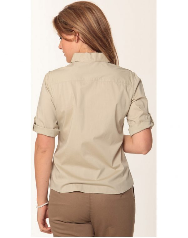 Women's Short Sleeve Military Shirt