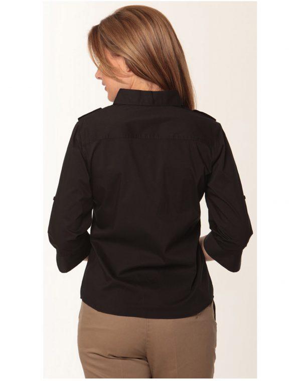 Women's 3/4 Sleeve Military Shirt