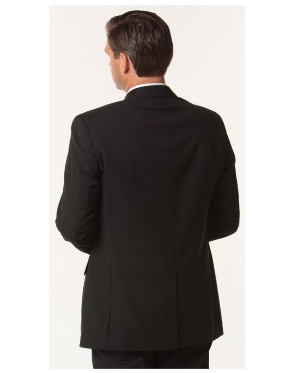 Men's Two Buttons Jacket in Wool Stretch
