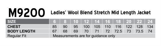 Women's Stretch Wool Blend Mid Length Jacket