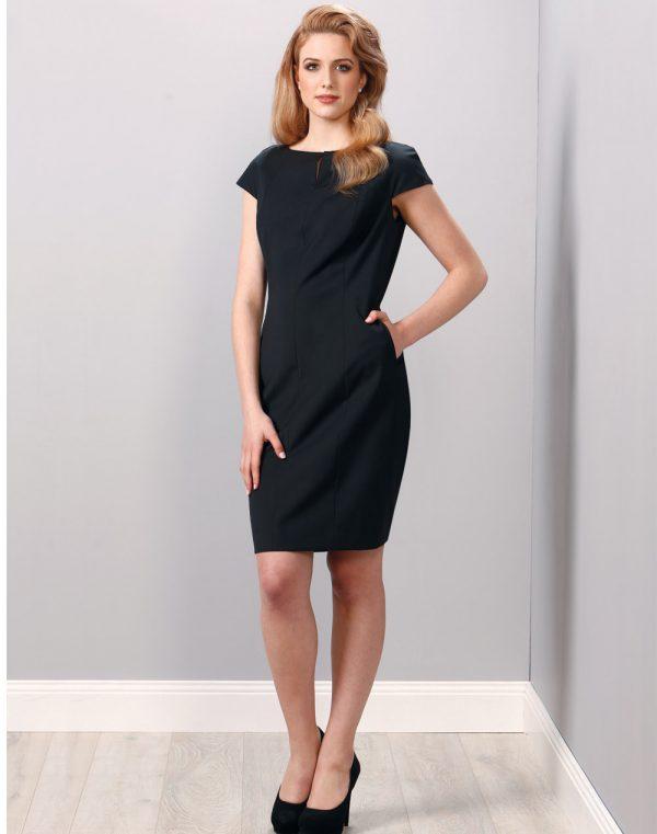 Ladies' Wool Blend Stretch Cap Sleeve Dress