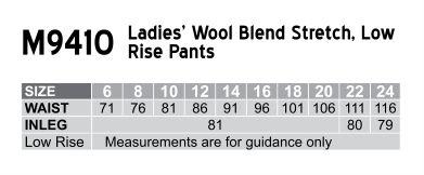 Women's Low Rise Pants in Wool Stretch