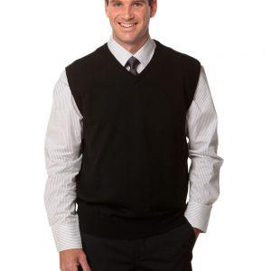 Men's 100% Merino Wool V Neck Vest