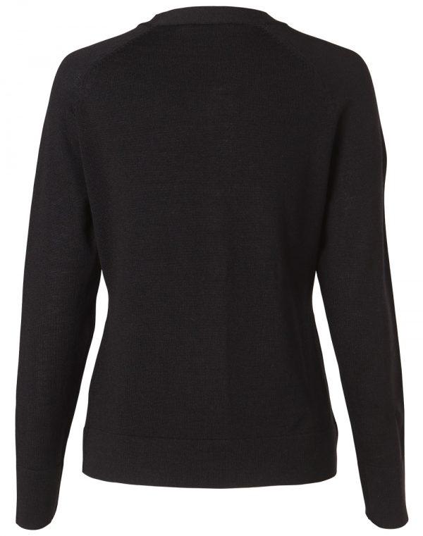 Women's 100% Merino Wool L/S Cardigan